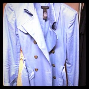 Kenneth Cole blue trench coat